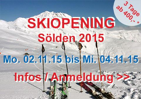 Skiopening 2015 Infos und Anmeldung